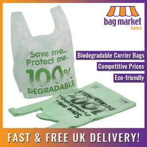 "100 x Large Biodegradable Carrier Bags! | 11 x 17 x 21"" | Oxo/Shop/Plastic/Eco"