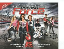 AUTOGRAPH ENTIRE FORCE  FAMILY SIGNED 8  X  10 RACING