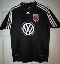 MLS DC United VW Adidas Black Jersey Shirt Youth Large EUC