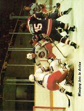 1978 Winnipeg Jets Home vs Quebec Nordiques WHA World Hockey Assn Program #4