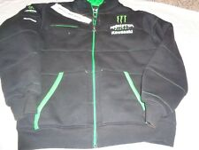Monster Energy Kawasaki Fleece Hoodie Sweatshirt Zip Jacket XL Adult