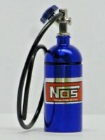 Blue Nos Nitrous Oxide Bottle for 1/10th Scale Rc Drift car/Crawler & Black Pipe