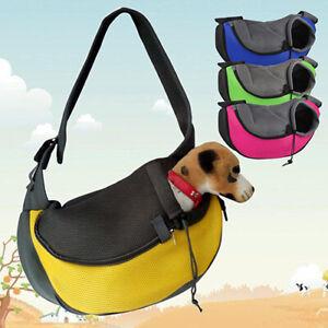 LN_ FJ- Pet Dog  Puppy Zipper Travel Tote Shoulder Bag Sling Backpack Pet C