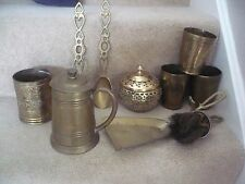 A FANTASTIC MIXED COLLECTION OF VINTAGE BRASS ITEMS A WONDERFUL LOT