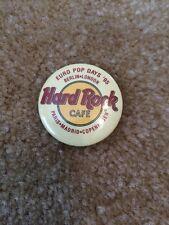 Hard Rock Cafe Vintage Pinback Button 1995 Euro Pop Paris Madrid Copenhagen