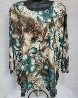 CJ Banks NWOT Womens Floral Shirt Top Blouse Size 3X