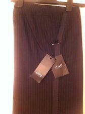 C'N'C CoSTUME NATIONAL Black Casual or Dress Women's Pants Size 46 Made in Italy