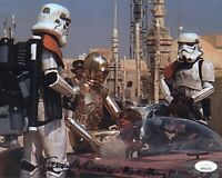 TERRY McGOVERN Signed 8X10 Photo STAR WARS STORMTROOPER Autograph JSA COA