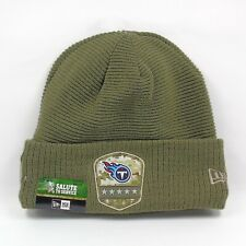 New Era Cap Men's NFL Tennessee Titans Salute To Service Winter Knit Beanie Hat