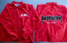 New All Access Justin Bieber Purpose Tour Jacket Windbreaker Size Large Red
