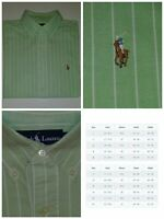 Mens: 15½ 32/33 Ralph Lauren Polo Dress Shirt Classic Fit (Mint,  white stripes)