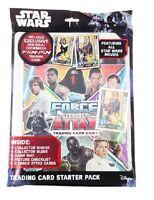 Topps STAR WARS Universe Force Attax Starter Pack Album 5 Cards + Flix PIx