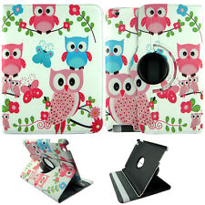 OWL BUTTERFLY WHITE FOLIO CASE IPAD 2/3/4 360 ROTATING STAND TABLET COVER