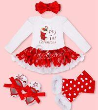 Baby Girl Kids Newborn Headband Playsuit Romper Dress Outfit Tutu Clothing Set