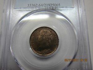 Nova Scotia - 1/2 cent -1864 - PCGS MS64 RB.