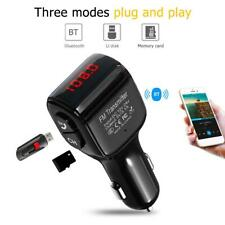 Mini 2 Usb Bluetooth 5.0 Hands-free Car Kit Charger Fm Transmitter Mp3 Player