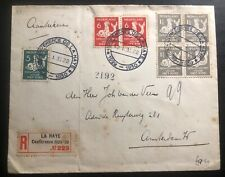 1930 The Hague Netherlands Registered Cover To Amsterdam Conference Cancel