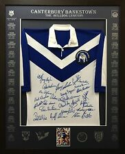 Blazed In Glory - Canterbury Bulldogs Legends - NRL Signed & Framed Jersey