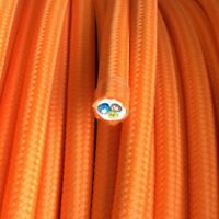 H03VV Textilkabel, Leitung Textilfaser umflochten, rund, orange, 3x0,75
