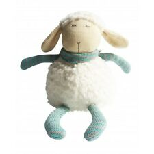 Sheep With Grey And Mint Scarf 28cm Knitted Plush Children's Toy Stuffed Animal
