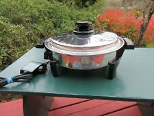 Nice West Bend Kitchen Craft Oil Core Electric Skillet with 900 Watts