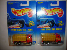 1991 Hot Wheels 237 Ford Stake BED Truck NEW Paint Style Lot of 2 Wheel Variatio