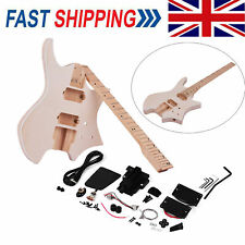 More details for diy electric guitar kit maple fingerboard neck basswood body build your own y7k