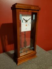 "BULOVA FRANK LLOYD WRIGHT ""WILLITS"" MANTEL CLOCK B1839"