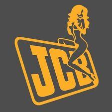 JCB Escavatore Trattore Decalcomania Divertente Bambina su Adesivo del logo x 2