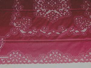 "Lace Tablecloth  Burdundy Battenberg  design 60"" x 120"""