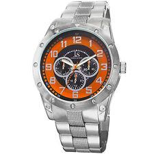 New Men's Joshua & Sons JS47OR Multifunction Orange Dial Bracelet Watch