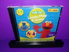SESAME STREET LEARN PLAY & GROW for PC, Mac CD ROM B476