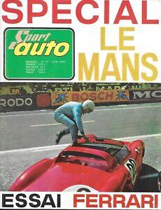 """Magazine """"SPORT AUTO"""" n° 41 juin 1965 """"Spécial Le Mans - Essai Ferrari"""""""