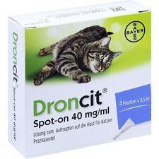 DRONCIT Spot on  Lösung  40mg/ml   - Pipetten   Katzen  4x 0,5 ml   PZN 10116413
