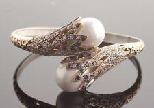 925 Sterling Silver Handmade Authentic Turkish Sapphire Bracelet Bangle Cuff