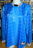 NIKE taille M MAILLOT de FOOTBALL bleu shirt blue FOOT team sports ATHLETES