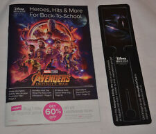 New! Disney Movie Club Exclusive Avengers: Infinity War Luggage Tag w/ Crossword