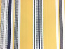 Blue White Yellow Multi Striped Oak 100% Waterproof Outdoor Canvas Patio Fabric