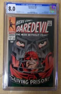 DAREDEVIL #38 CGC SHARP 8.0 OFF WH TO WH 1968 ,FANTASTIC FOUR,DR.DOOM.WOW