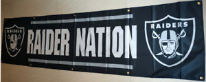 Oakland Raiders Flag 2X8 FT Football NFL Banner Polyester FAST SHIPPING!