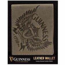 New Irish Guinness Grey Leather Wallet - Bifold - Ireland - Licensed Stock