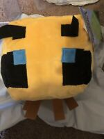 """Minecraft Bee Pillow Buddy Plush 12"""" NEW with Tags In Hand Fast Ship Quick JINX"""