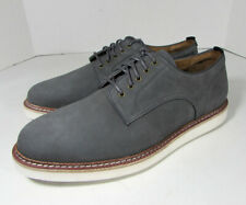 $200 Cole Haan Mens Tanner Plain Casual Lace Up Oxford Shoes, Magnet/Ivory, US 9