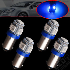 4PCS Ultra Blue T11 BA9S-5SMD H6W 1985 1445 LED Interior Dome Light Bulb Lamps