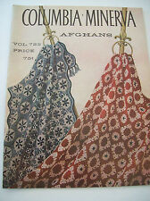 Vintage Columbia Minerva Vol 722 Crochet Knit Afghan Pillow Pattern Booklet