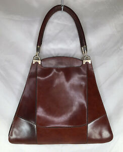 Vintage Alfie's Handmade in Italy Brown Leather Triangle Purse