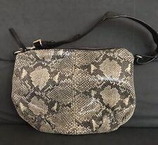 Banana Republic Small Purse Brown Beige Snake Print Faux Leather Hobo Bag