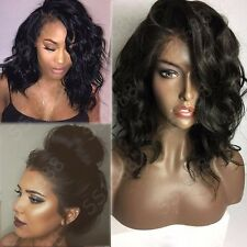 Silk Lace Malaysian Virgin Human Hair 360 Full Frontal Lace Wig Wavy Baby Hair s