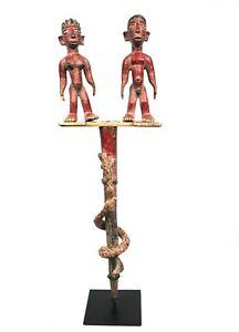 "Art Africain Afrikanische Kunst African - Rare Sceptre ""Colon"" Mossi - 76 Cms ++"