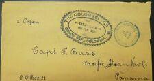 O) 1892 COLOMBIA, AGENCIA POSTAL NACIONAL COLON - REPUBLIC OF COLOMBIA-ESTABLISH